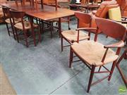 Sale 8451 - Lot 1003 - Peter Hvidt for France & Sons 9 piece dining suite