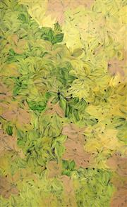 Sale 8733A - Lot 5031 - Margaret Scobie (c1948 - ) - Bush Medicine Leaves 151 x 92cm (stretched and ready to hang)