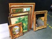 Sale 8668 - Lot 2041 - Group of Assorted Artworks, plus Decorative Gilt Frame (framed/various sizes)