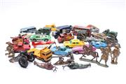 Sale 8706 - Lot 94 - Collection of Early Match Box Toys Together with Lead Soldiers