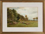 Sale 8804A - Lot 11 - Thomas Pyne (British 1843-1935) - A Country Outing 34cm x 53cm