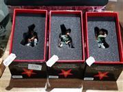 Sale 8817C - Lot 598 - K&C Wehrmacht Figures (3); Kneeling Loading, Kneeling with Rifle & Kneeling with Bino