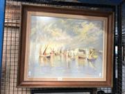 Sale 8853 - Lot 2094 - Artist Unknown - Maritime Scene mixed media on paper, unsigned