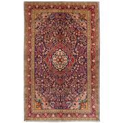 Sale 8870C - Lot 7 - Persian Fine Vintage Kashan Rug in Handspun Wool, 135x230cm