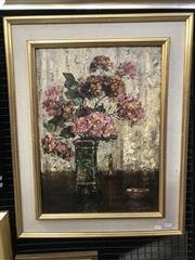 Sale 9072 - Lot 2003 - Henry John Dykman (1893 - 1972) Dombeya, 1950 oil on canvas, 77 x 61cm (frame) signed and dated lower right