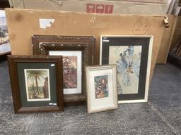 Sale 9106 - Lot 2069 - Group of Assorted Works on Paper incl: lithograph of Bordighera, decorative print by Thea Proctor, Yoshida Hiroshi offset lithograph...