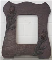 Sale 8319 - Lot 325 - Australian wood picture frame featuring waratah flowers