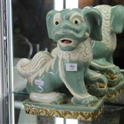 Sale 8362 - Lot 90 - Glazed Foo Dog