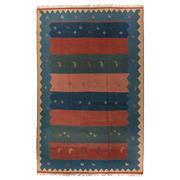 Sale 8870C - Lot 8 - Persian Vintage Gabbeh Kilim Rug in Handspun Wool, 280x175cm