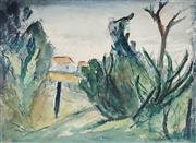 Sale 8908A - Lot 5012 - Desiderius Orban (1884 - 1986) - Farmhouses from the Boundary Fence 27 x 37 cm