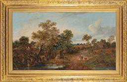 Sale 9190H - Lot 103 - William Meadows (1825-1901), The campsite, oil on canvas, signed, 60cm x 107cm