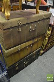 Sale 8386 - Lot 1076 - Metal Trunks x 3