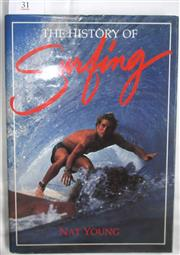 Sale 8431B - Lot 31 - Nat Young. The History of Surfing. Palm Beach Press 1983. Hardback with dustwrapper, 200 pages