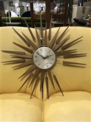 Sale 8805 - Lot 1015 - Starburst Wall Clock (a/f)