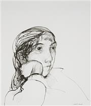 Sale 9063A - Lot 5002 - Margaret Woodward (1938 - ) - The Daydreamer (Priya) 35 x 30 cm (frame: 72 x 66 x 4 cm)