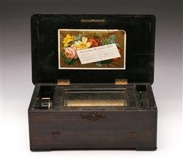 Sale 9122 - Lot 81 - A National Music Box (H:13cm W:36cm D:21cm)