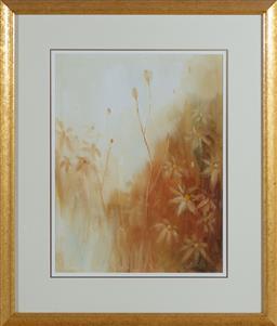 Sale 9155H - Lot 3 - J. Bellamy, oil on board, flowers, 43.5cm x 34.5cm