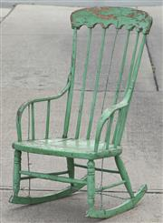 Sale 8319 - Lot 327 - Rustic country rocking chair with original milk paint