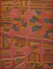 Sale 8321 - Lot 588 - Cassidy Possum Tjapaltjarri (c1925 - 2006) - Untitled 165 x 127cm