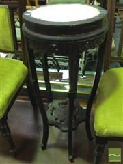 Sale 8412 - Lot 1097 - Marble Inlaid Top Jardiniere Stand