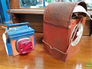 Sale 8480 - Lot 1015 - Two Vintage Railway Lanterns