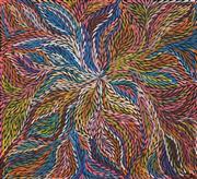 Sale 8492 - Lot 511 - Jeannie Petyarre (c1956 - ) - Bush Yam Leaves 90 x 100cm