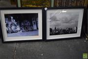 Sale 8541 - Lot 2092 - Pair of Framed Photographic Prints of Europe