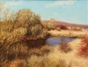 Sale 8582 - Lot 2036 - Howard Scott (1921 - ) - The Dam at Morton Downs 34.5 x 44.5cm