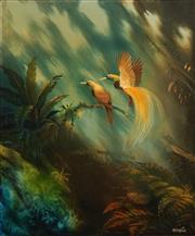 Sale 8656 - Lot 575 - Blake Twigden (1945 - ) - Birds of Paradise, 1975 62 x 51cm