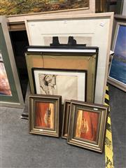 Sale 8807 - Lot 2090 - Group of Assorted Artworks, including original paintings, decorative prints and watercolours, various sizes