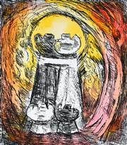 Sale 8930A - Lot 5022 - David Boyd (1924 - 2011) - Reconcilliation 22.5 x 19.5 cm (image size) 55.5 x 38 cm (sheet size)
