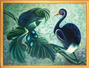 Sale 9053 - Lot 2030 - Ronald Chambers - Tropical Bird & Berries 90.5 x 120.5 cm (frame: 110 x 130 x 3 cm)