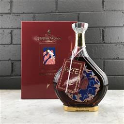 Sale 9089 - Lot 509 - Courvoisier Collection Erte No.7 - La Part Des Anges Limited Edition Extra Cognac - 40% ABV, in 24ct gold detailed decanter, 750ml i.