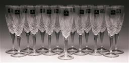 Sale 9122 - Lot 54 - Royal Doulton Boxed Suite Of Crystal Dorchester Flutes (16) (H:22cm)