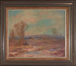 Sale 9139 - Lot 2003 - Kasey Sealey (1961 - ) Village Talk, Saratoga, Central Coast, NSW oil on board 36.5 x 44 cm (frame: 52 x 60 x 3 cm) signed lower right