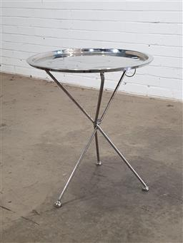 Sale 9146 - Lot 1056 - Folding metal side table (h60 x d50cm)
