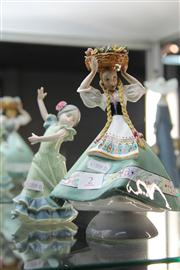 Sale 8327 - Lot 2 - Lladro Dancing Figure & an Italian Flower Picker Example