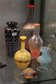 Sale 8360 - Lot 96 - Kosta Boda Art Glass Set of 2 Vases with Other Art Glass incl. Vereker