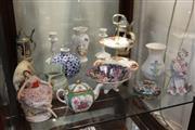 Sale 8369 - Lot 96 - Dresden Melodie Figure (af) with Other Ceramics Incl. a Belleek Vase -