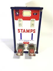 Sale 8600A - Lot 3 - Vintage metal stamp vending machine, US version, W 36cm.