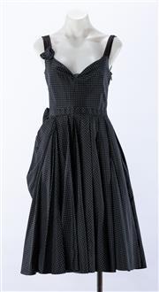 Sale 8910F - Lot 26 - A Prada layered silk sundress in black and green polkadots, size 40