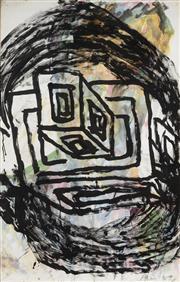 Sale 9084 - Lot 517 - Mike Parr (1945 - ) - Untitled, 1989 111 x 70 cm (frame: 120 x 79 x 4 cm)