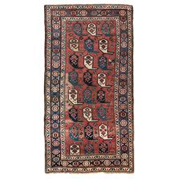Sale 9090C - Lot 2 - Antique Caucasian Boteh Kazak Rug, Circa 1950, 285x150cm, Handspun Wool