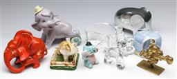 Sale 9173 - Lot 76 - A collection of elephant-related items incl. ceramic and brass examples