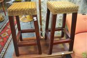 Sale 8289 - Lot 1098 - Pair of Barstools