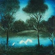 Sale 8916 - Lot 552 - Kevin Charles (Pro) Hart (1928 - 2006) - Waterhole 37 x 37 cm