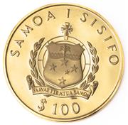 Sale 8937 - Lot 335 - A WESTERN SAMOA $100 PROOF GOLD COIN; commemorating the 1976 Olympic Games Montreal, 22ct gold, wt. 15.97g, no. 297/2500.