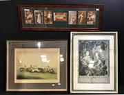 Sale 8945 - Lot 2088 - 4 Assorted Artworks incl. painting by Leeka Gruzdeff, Decorative Prints & Erotic Edwardian Photographs