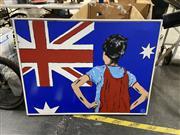 Sale 8995 - Lot 2084 - Melissa Gollan Young Australian Hero 2013 acrylic on canvas 80 x 105cm, signed lower