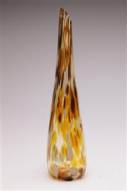 Sale 9052 - Lot 14 - Venetian Tartaruga Tortoiseshell Glass Vase, signed (H: 50cm)